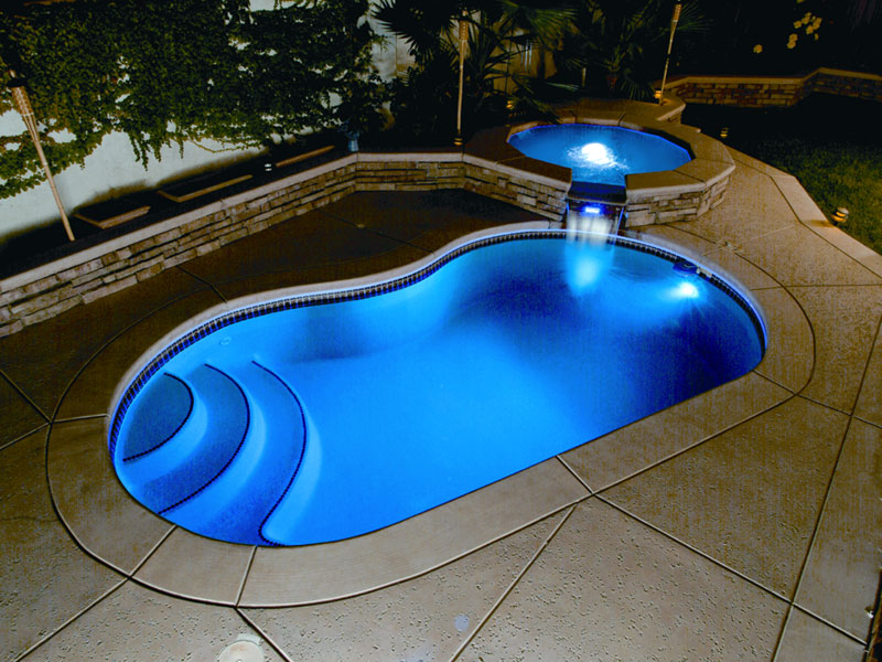 Viking fiberglass inground swimming pool lighting for Fiberglass inground swimming pools