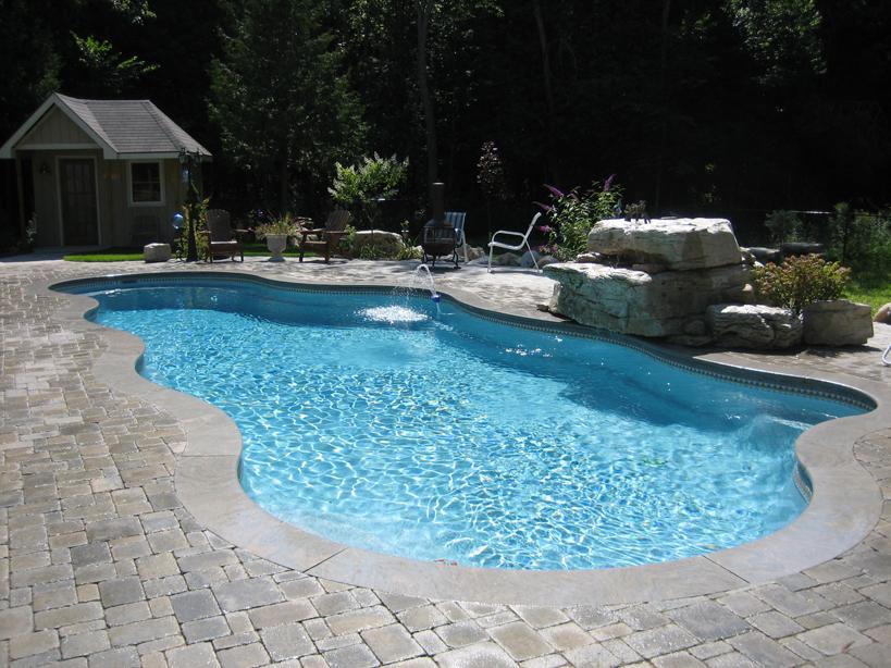 Viking fiberglass inground swimming pool streams for Fiberglass inground swimming pools
