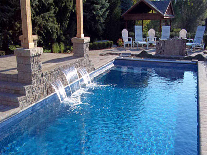 Lake shore large fiberglass inground viking swimming pool for Local swimming pool companies